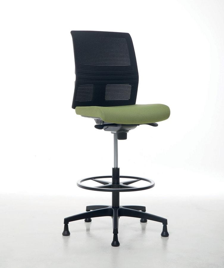 Omnia Plus Stool 02, Verstellbarer Bürohocker