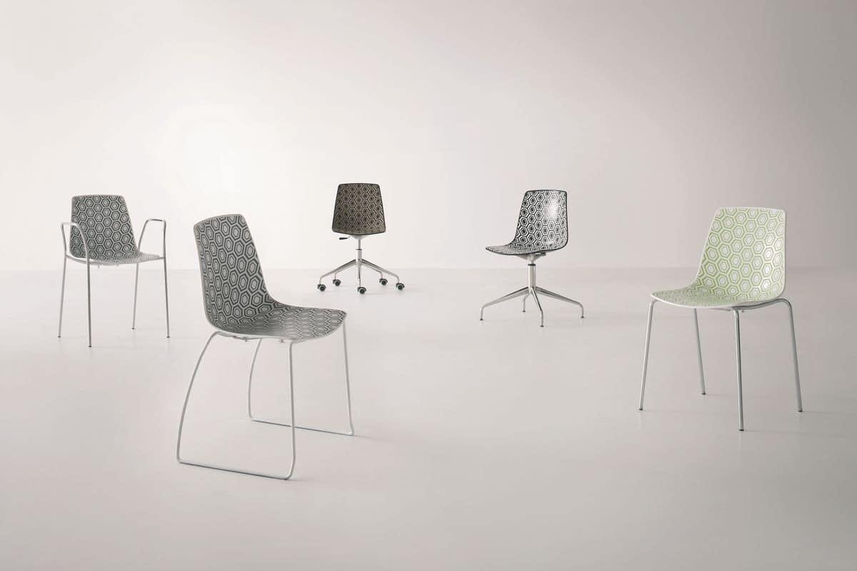 stuhl mit drehgestell mit rollen f r b ro idfdesign. Black Bedroom Furniture Sets. Home Design Ideas