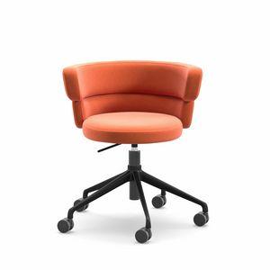 Dam HO, Heim-Bürostuhl, Dreh auf Rädern, mit bequemen gepolsterten Sitz