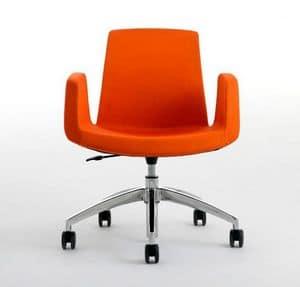 JOLLY with castors, Komfortable Bürostuhl, Drehgelenk und in der Höhe verstellbar