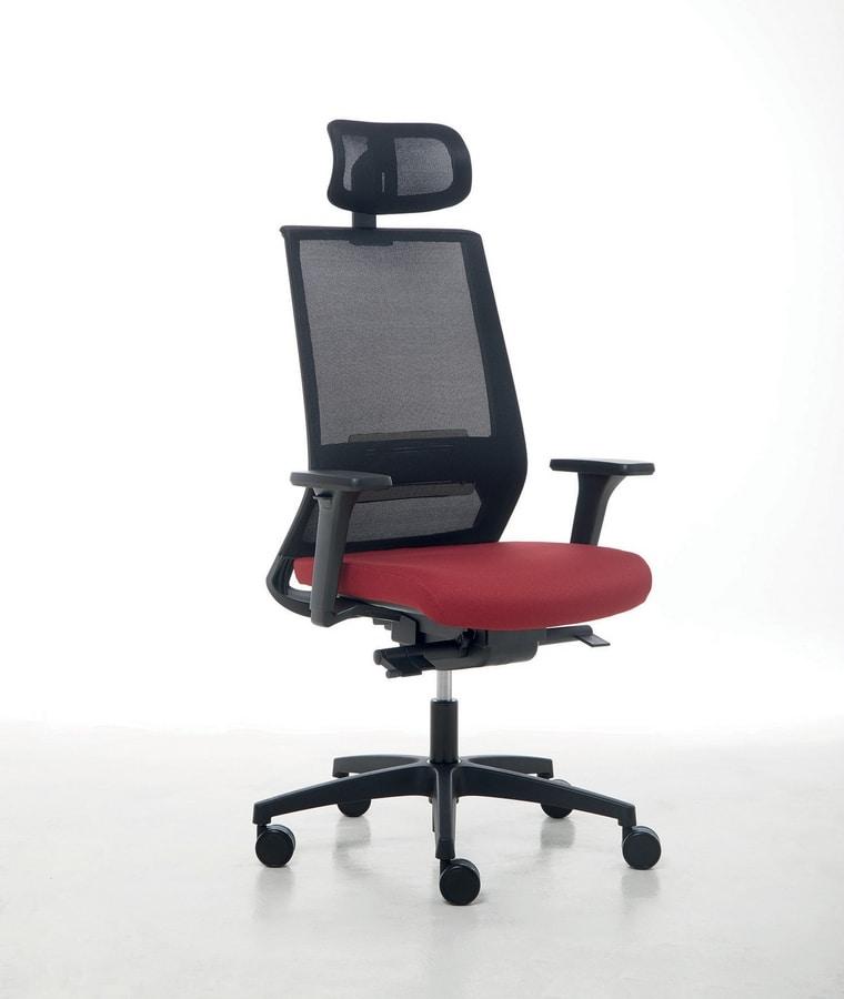 Logica 01 PT, Arbeitsstuhl für moderne Büros