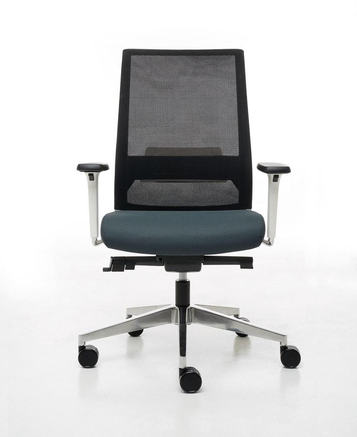 Logica White 01, Weißer Bürostuhl