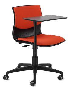 WEBBY 344 STO, Stuhl auf Rad mit Tablette schreiben