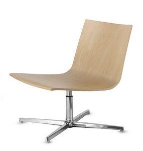 EXEN 242, Drehstuhl mit Holzsitz