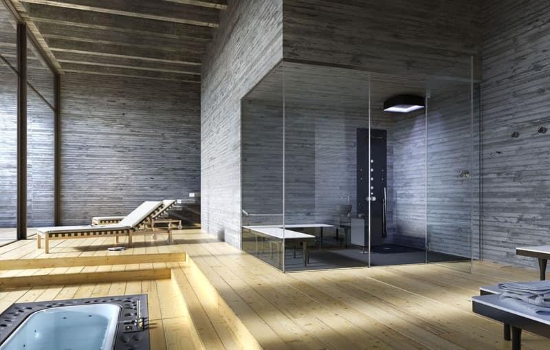Moderne badezimmer mit dusche