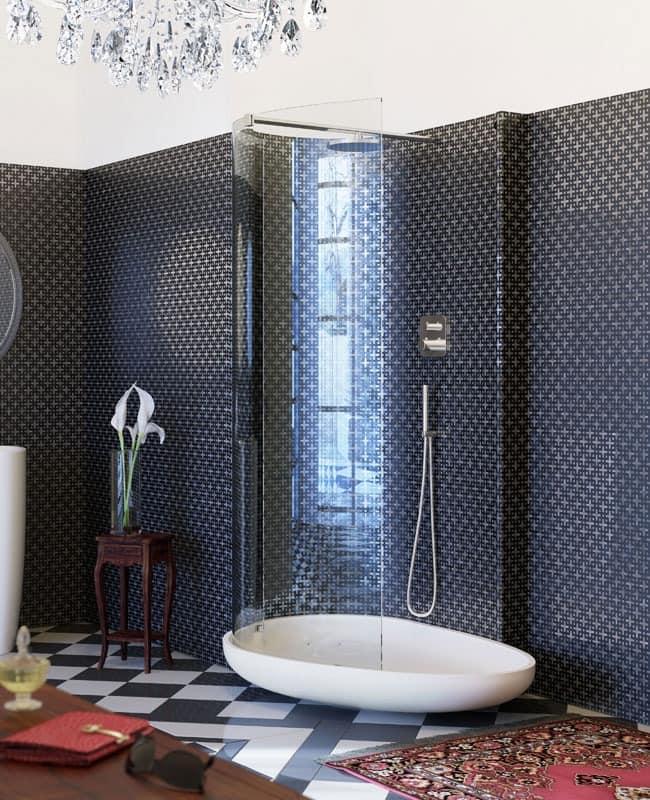 Dusche mit flachen klarglas idfdesign for Bilder duschkabinen
