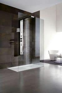 Bristol Box 1, Duschabtrennung mit Duschkopf und Regal für Hotelbadezimmer