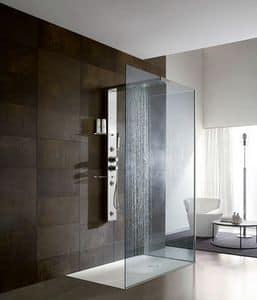 Bristol Box 3, Wanddusche, mit Stahlsäule, für Badezimmer Hotels