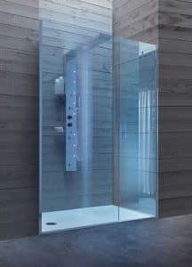 Bristol Kasten 8, Walk-in-Dusche mit Glastür, für Hotels Badezimmer