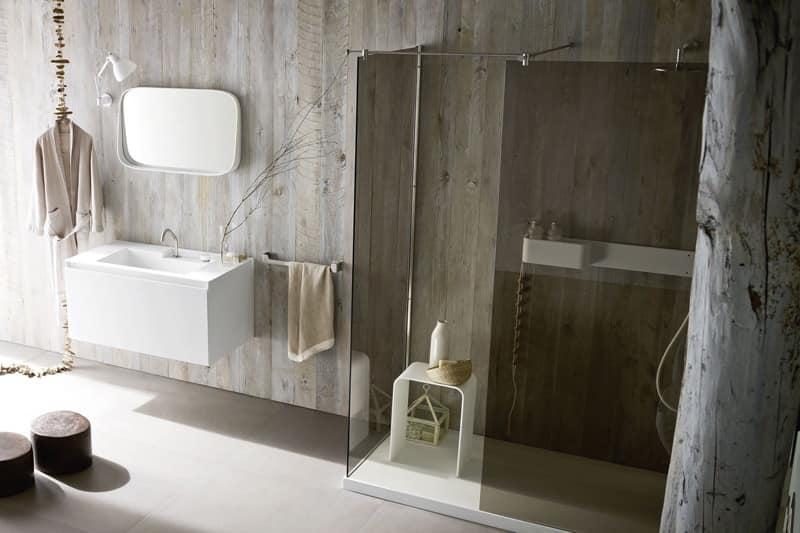 offene dusche planen corian fr dusche minimalem duschkabinen - Offene Dusche Planen