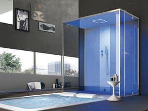 Gemini, Große Duschkabine, multifunktional, für Heim