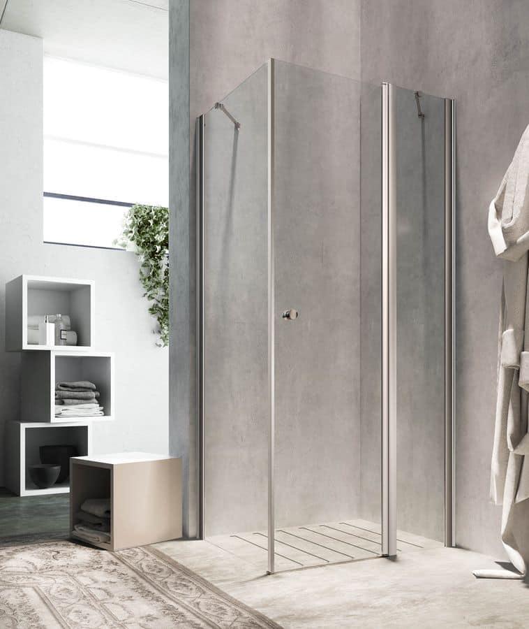 Eckdusche eleganten oberfl chen f r hotelzimmer idfdesign for Bilder duschkabinen