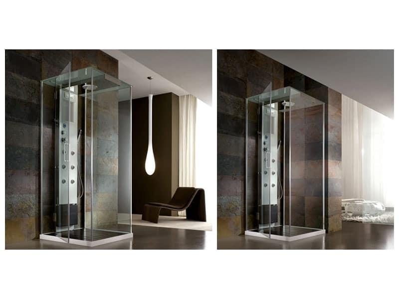 Minimalistisches bad mit großer badewanne hotel spa
