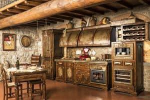 Art. 623, Rustikale Küche, im Alter von Corten beendet