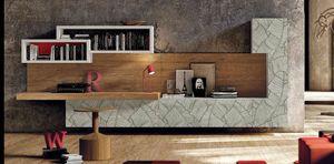 002 Wohnzimmerschrank, Elegante Wohnzimmermöbel mit Türen mit Blattverzierungen