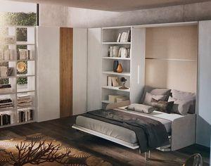 003 space-saving, Platzsparende Möbel mit eingebautem Bett
