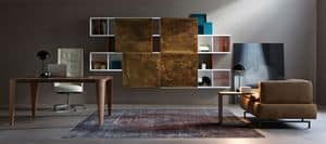 Aliante, Das System der Regale und Hängeeinheiten für Büro- und Wohnräume