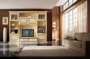 Art.0732/L, Einbauwand für Wohnzimmer, im klassischen Stil