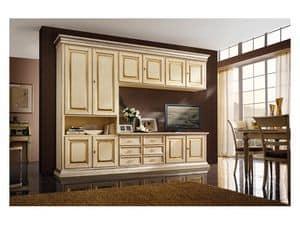 Art.0779 / L, Holzmöbel für Küchen und Wohnzimmer, elfenbeinfarbenem