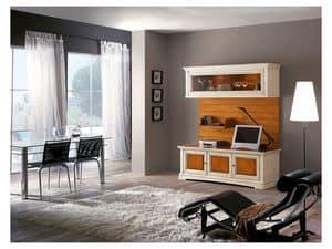 Art.114, Wohnzimmermöbel aus Massivholz mit Glastüren
