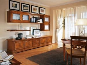 Art.116, Klassischen Stil Bücherregal mit Türen und Regale