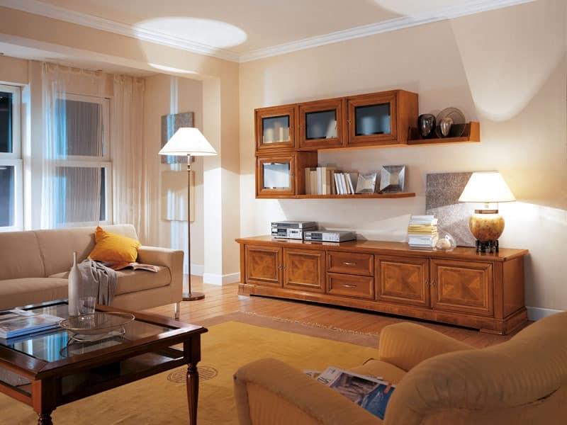 Wohnzimmerm bel mit schr nken und schubladen idfdesign - Mobili da salotto classici ...
