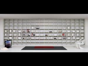 Bibliothek Tag 04, Modulare Möbel für Wohnzimmer, Module in verschiedenen Formen