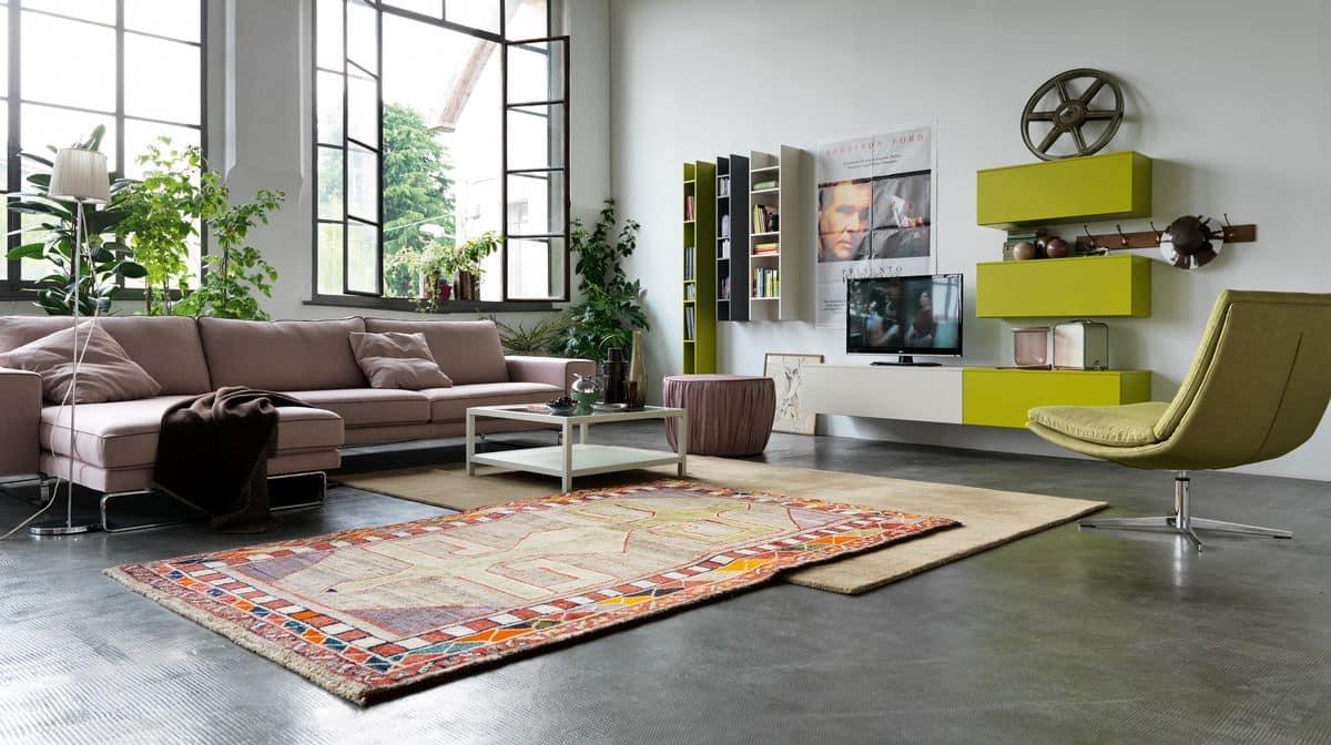 Baukastensystem für moderne Wohnräume mit Wandschränken | IDFdesign