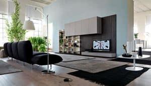 Citylife 13, Moderne Möbel für Wohnzimmer, mit Verkleidungsplatten