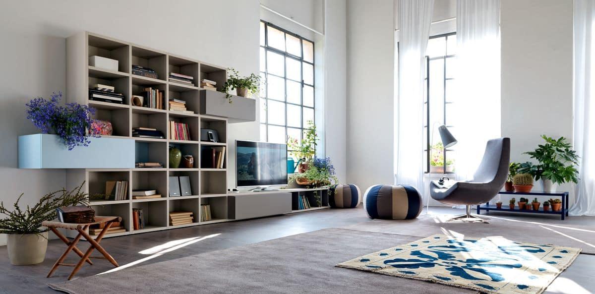 Moderne Zusammensetzung Für Wohnräume Mit Türen Und Klappen Idfdesign