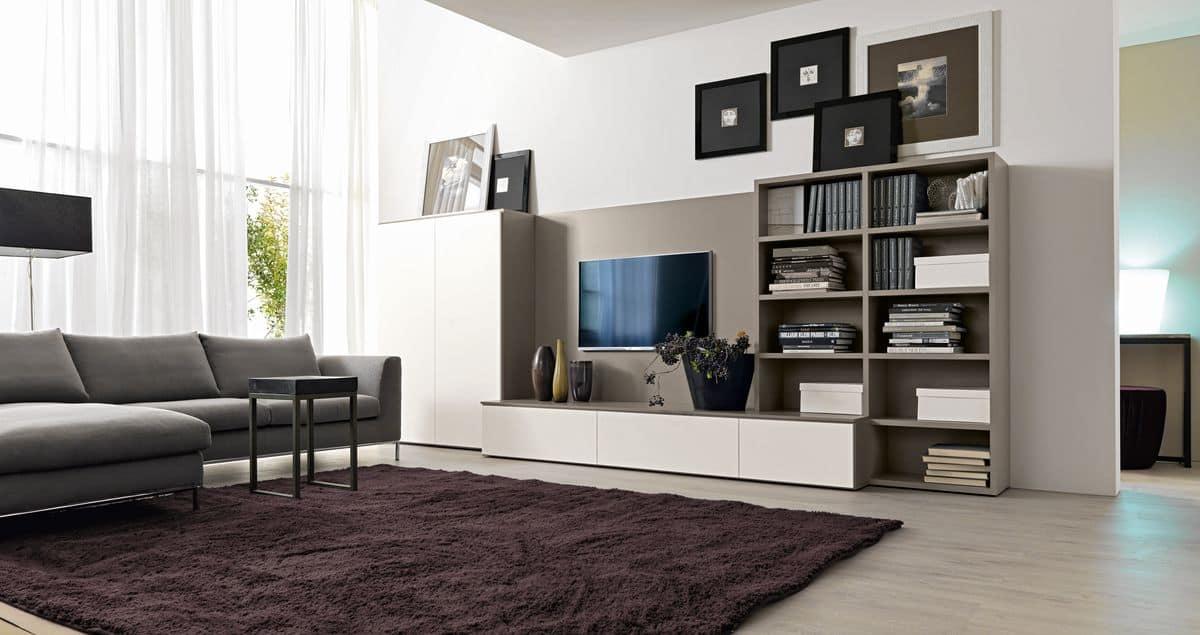 systemm bel f r wohnzimmer mit tv st nder idfdesign. Black Bedroom Furniture Sets. Home Design Ideas
