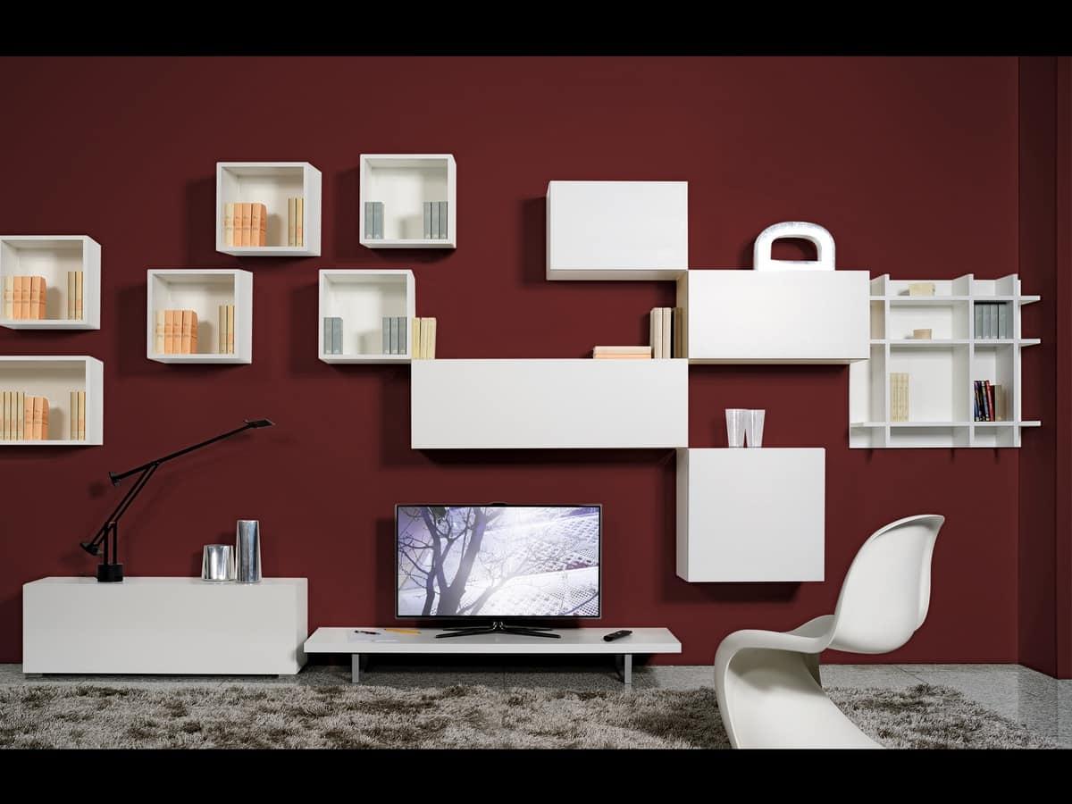 Modulare m bel f r wohnzimmer im minimalistischen stil for Suite modulare suocera