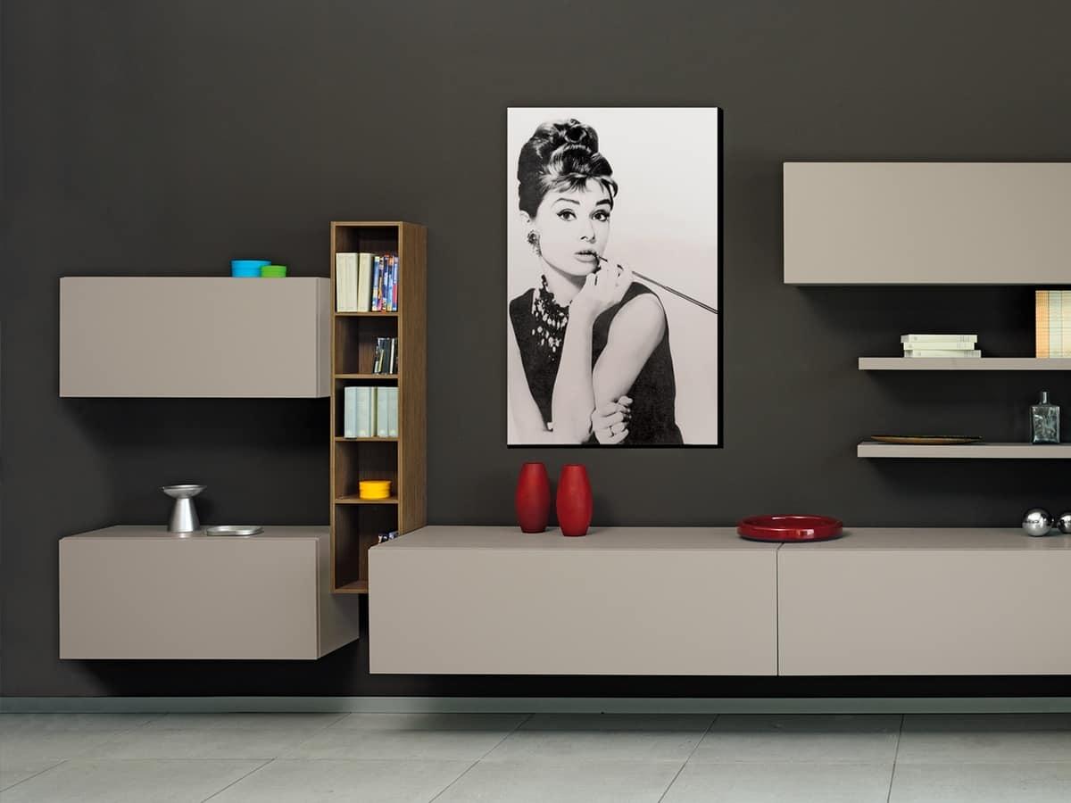 modulare beh lter f r wohnzimmer mit t ren und regale idfdesign. Black Bedroom Furniture Sets. Home Design Ideas