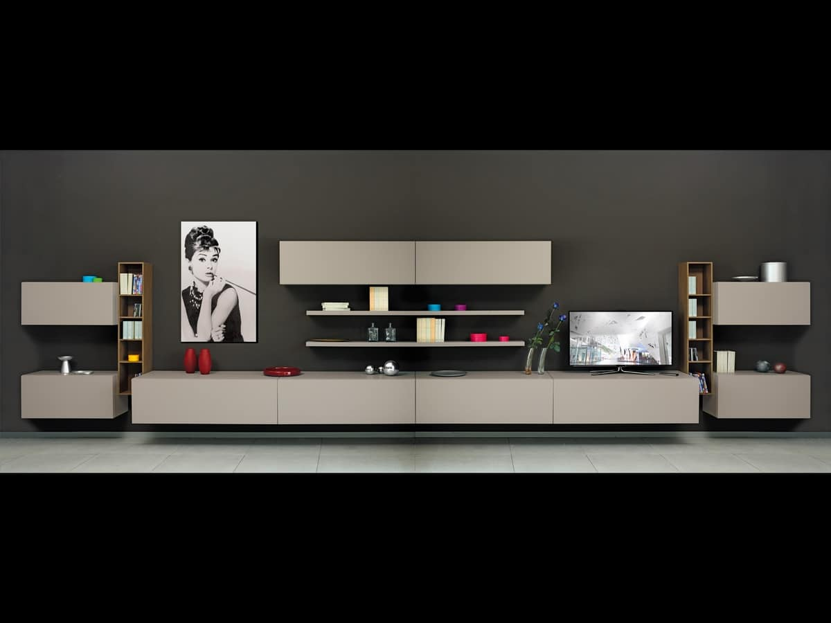 modulare beh lter f r wohnzimmer mit t ren und regale idfdesign. Black Bedroom Furniture Sets. Home Design Ideas