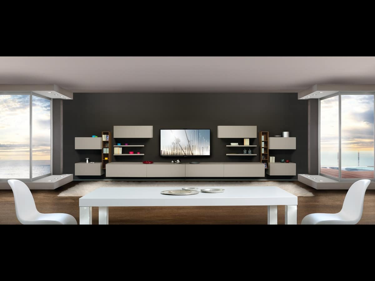 regale regale und schr nke mit t ren f r wohnzimmer idfdesign. Black Bedroom Furniture Sets. Home Design Ideas