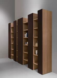 CODE comp.04, Moderne Bibliothek, elegant und robust, für Wohnzimmer