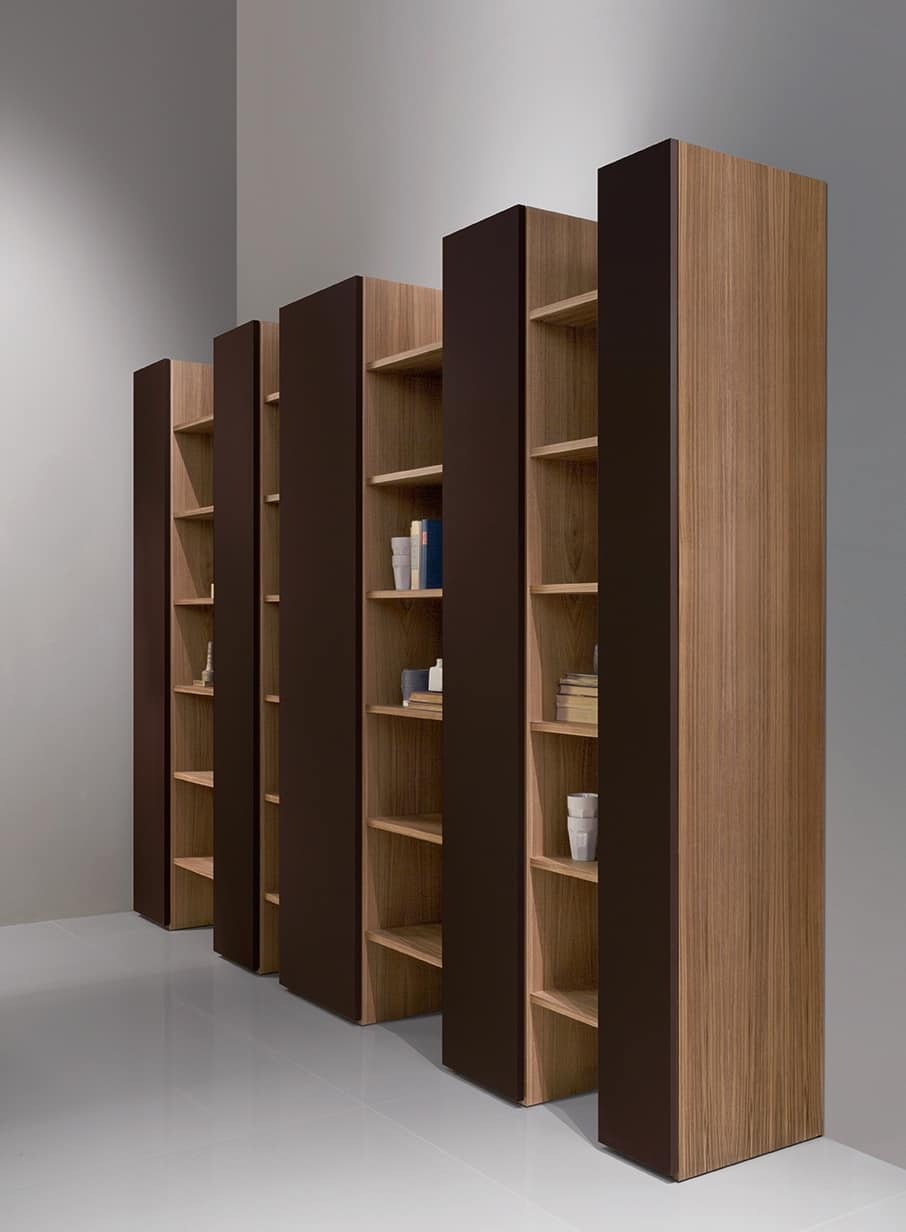 bucherregal bibliothek holz. Black Bedroom Furniture Sets. Home Design Ideas