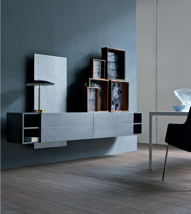 die speichereinheit f r den wohnbereich an der wand h ngen idfdesign. Black Bedroom Furniture Sets. Home Design Ideas