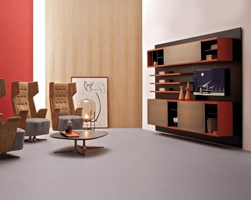 Fantastisch E Wall, Wohnzimmermöbel System, Modulregal Aus Holz
