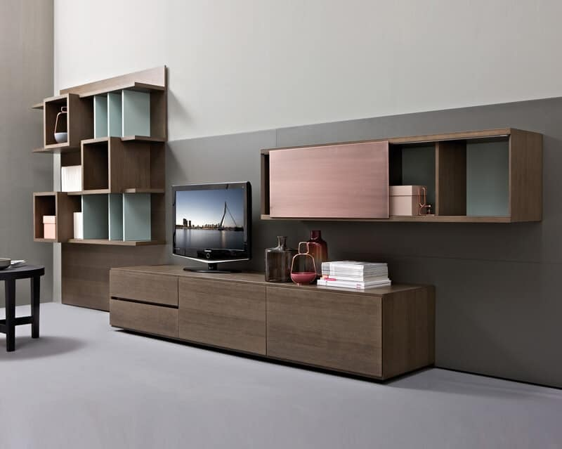 wohnzimmerm bel system modulregal aus holz idfdesign. Black Bedroom Furniture Sets. Home Design Ideas