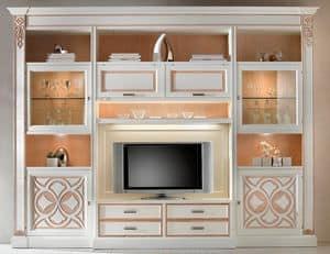F 04, Wohnzimmermöbel, lackiert Esche, anpassbare