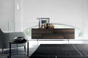 GRAPHOS WOOD 172, Wohnzimmermöbel mit Klapptüren
