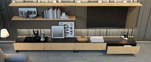 Ironwood TV Zusammensetzung Jupiter Eiche, Wohnzimmermöbel mit TV-Ständer und Schubladen
