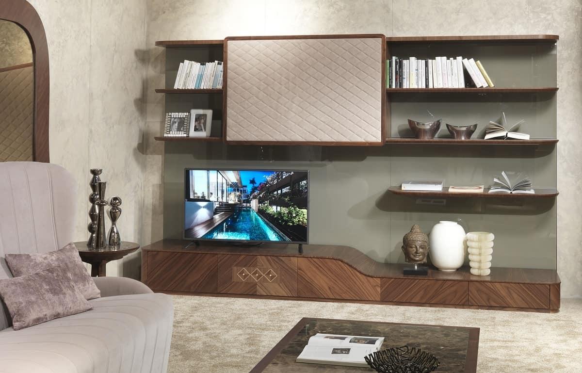 Wohnzimmermöbel mit TV-Ständer im zeitgenössischen Stil   IDFdesign
