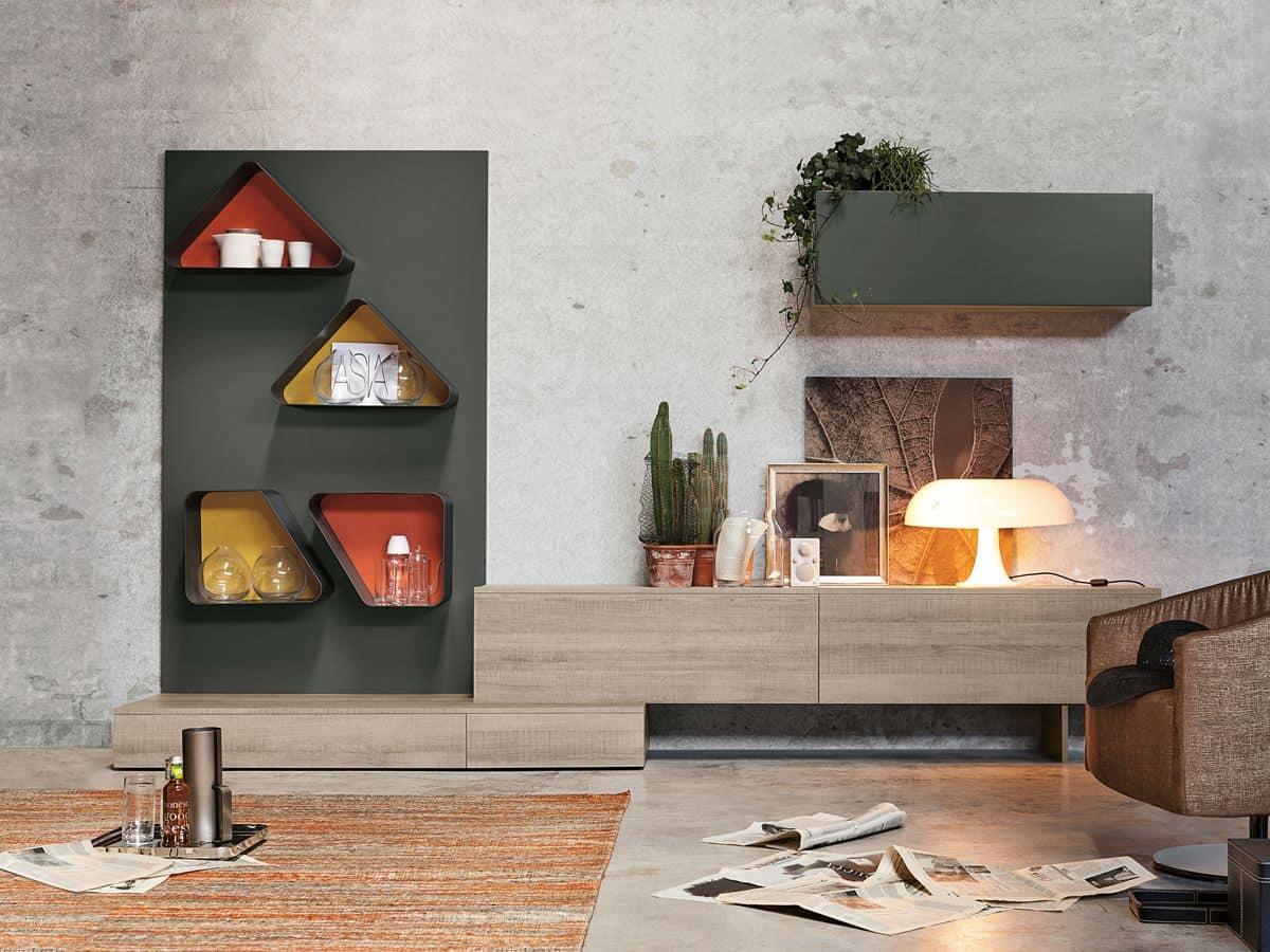 Moderne Möbel für das Wohnzimmer - Magnetika living M04 von Ronda ...