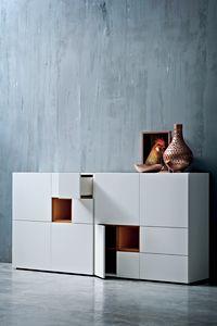 QUADRI 162, Modulare und anpassbare Wohnzimmermöbel
