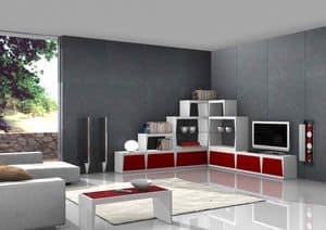 Red Corner, Corner TV-Ständer, für stilvollen Aufenthalt