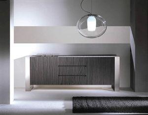 Ring Sideboard, Modernes Sideboard in heller oder dunkler Eiche