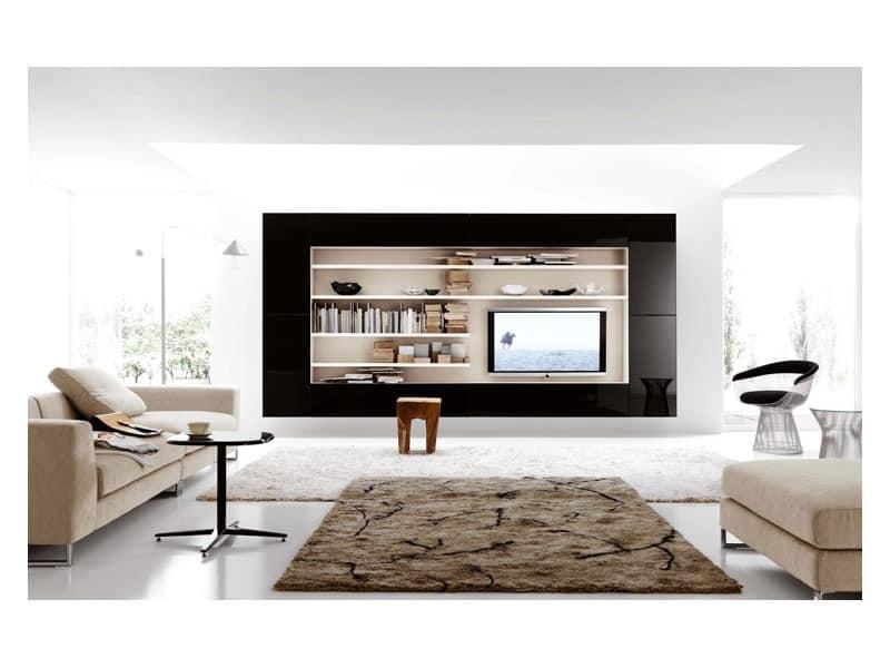 schrankwand 1 schr nke f r wohnzimmer wohnbereich idfdesign. Black Bedroom Furniture Sets. Home Design Ideas