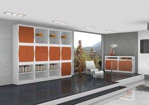 Silvy, Möbel für den Wohnbereich mit Türen und Regale